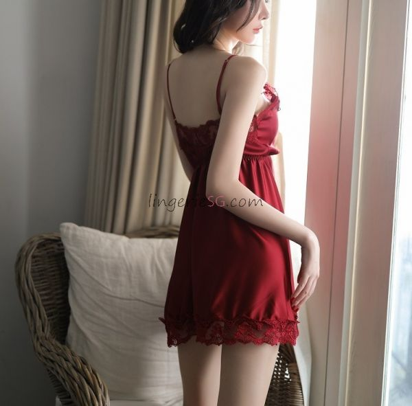 Red Floral Babydoll Dress
