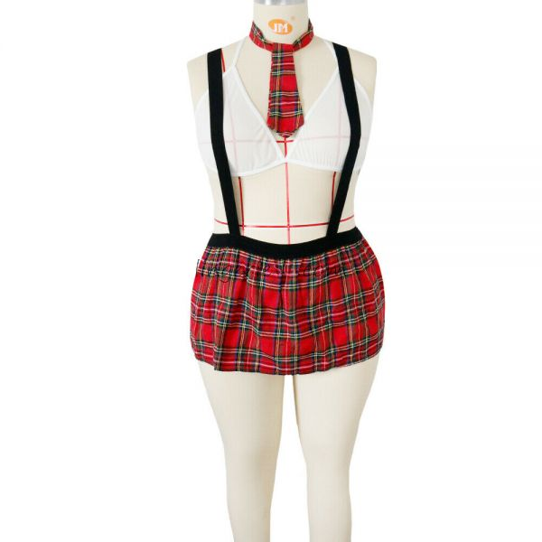 Red Two Piece English Maid Dress