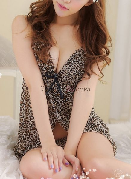 Leopard Print Hollow out Babydoll Dress